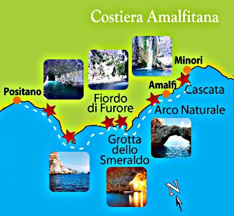 Tour Costiera Amalfitana Cartina.Cassiopea Excursion To The Coast Of Amalfi Emerald Grotto Escursioni Sulla Costa Amalfitana La Grotta Dello Smeraldo